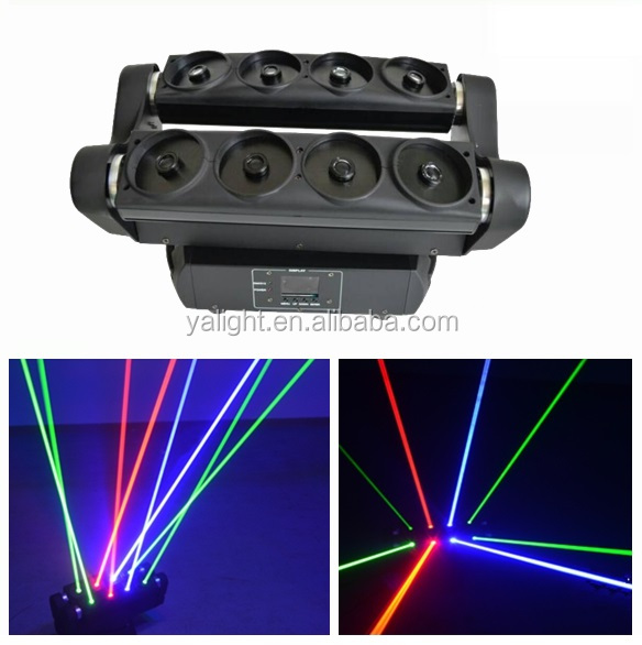 8pcs 80mw 640mw Moving Head Spider RGB Laserlaser pointer/outdoor laser projection light