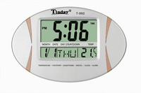 Home decorative functional big screen thermometer table clock