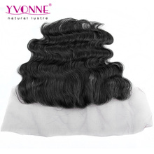 Natural color virgin brazilian hair lace frontal hair pieces 13.5x4
