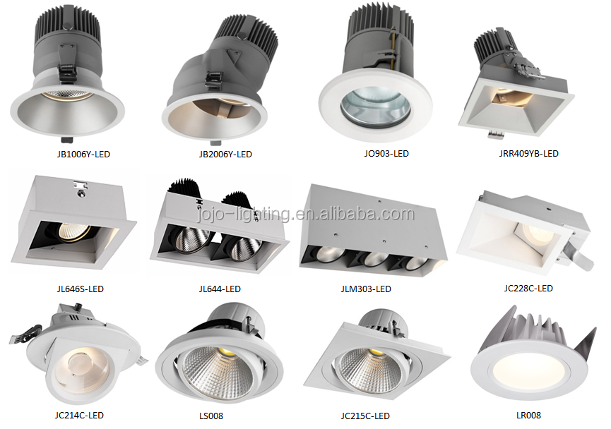 Villa restaurant small design of 3W 5W 7W 9W 15W RA90 led household downlight
