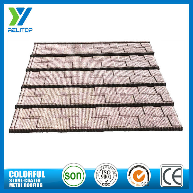 Custom light weight galvanised sand coated metal roofing tiles