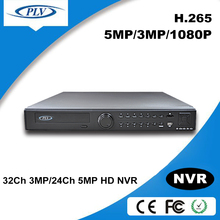 PLV new arrival h.264 h.265 cctv 24ch dvr cms free software 5MP 24 channel dvr free software CMS XMeye