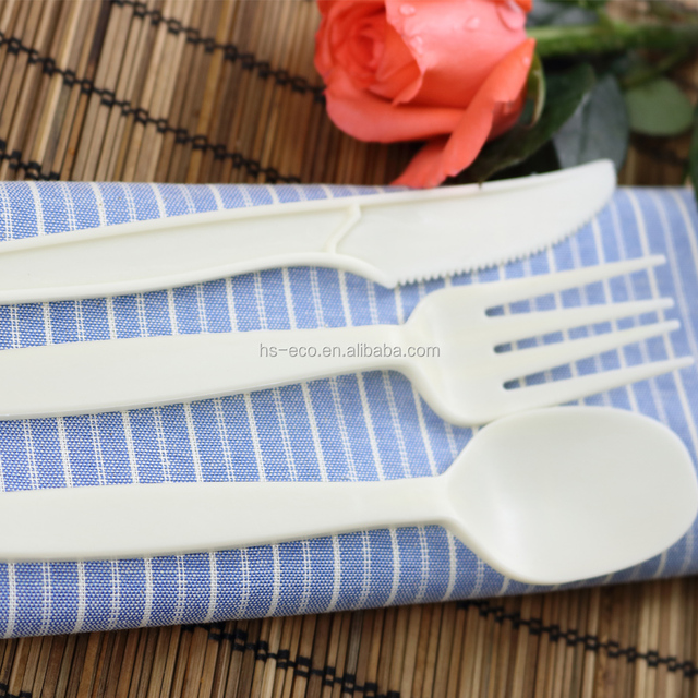 GUARANTEED LOWEST PRICE! 100% Biodegradable compostable cutlery fork knife spoon disposable tableware
