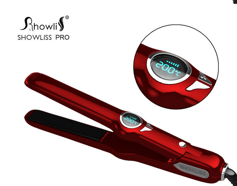 Showliss New Design Professional Steam Hair Straightener With LCD Temperature Adjustable Electric Hair Straightener Hair Roller
