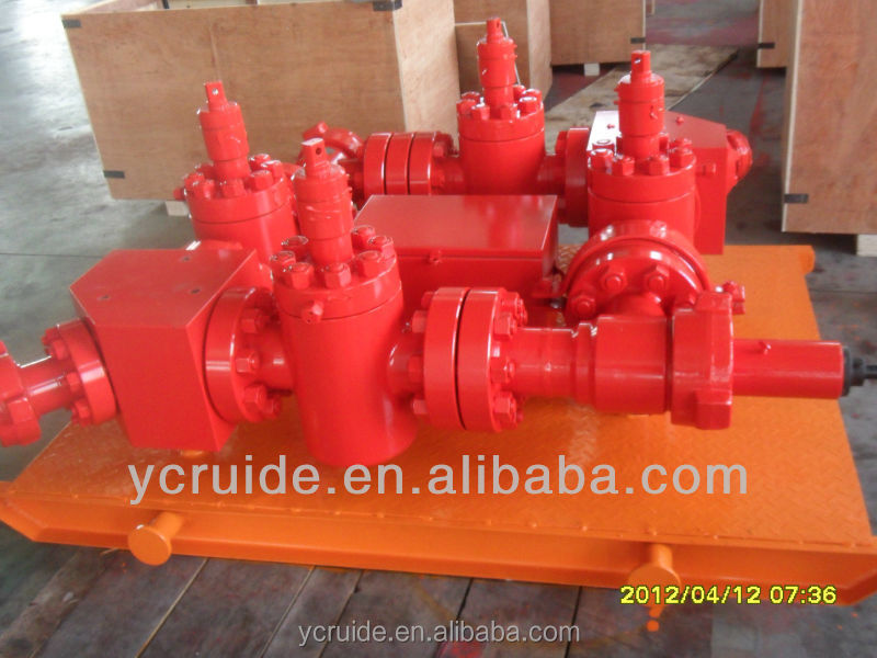 API manual and hydraulic choke manifold for oilfield equipment