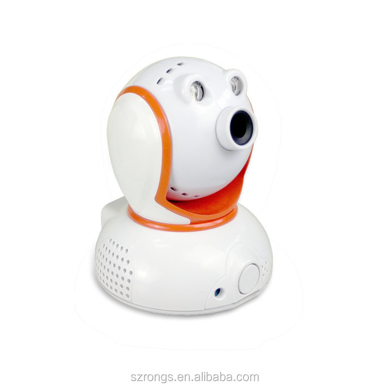 Indoor mini HD 720P speaker two way audio intercom WIFI mention detention TF card slot pan tilt IP security camera