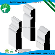 White polystyrene moulding ,ps skirting board,china factory supplier