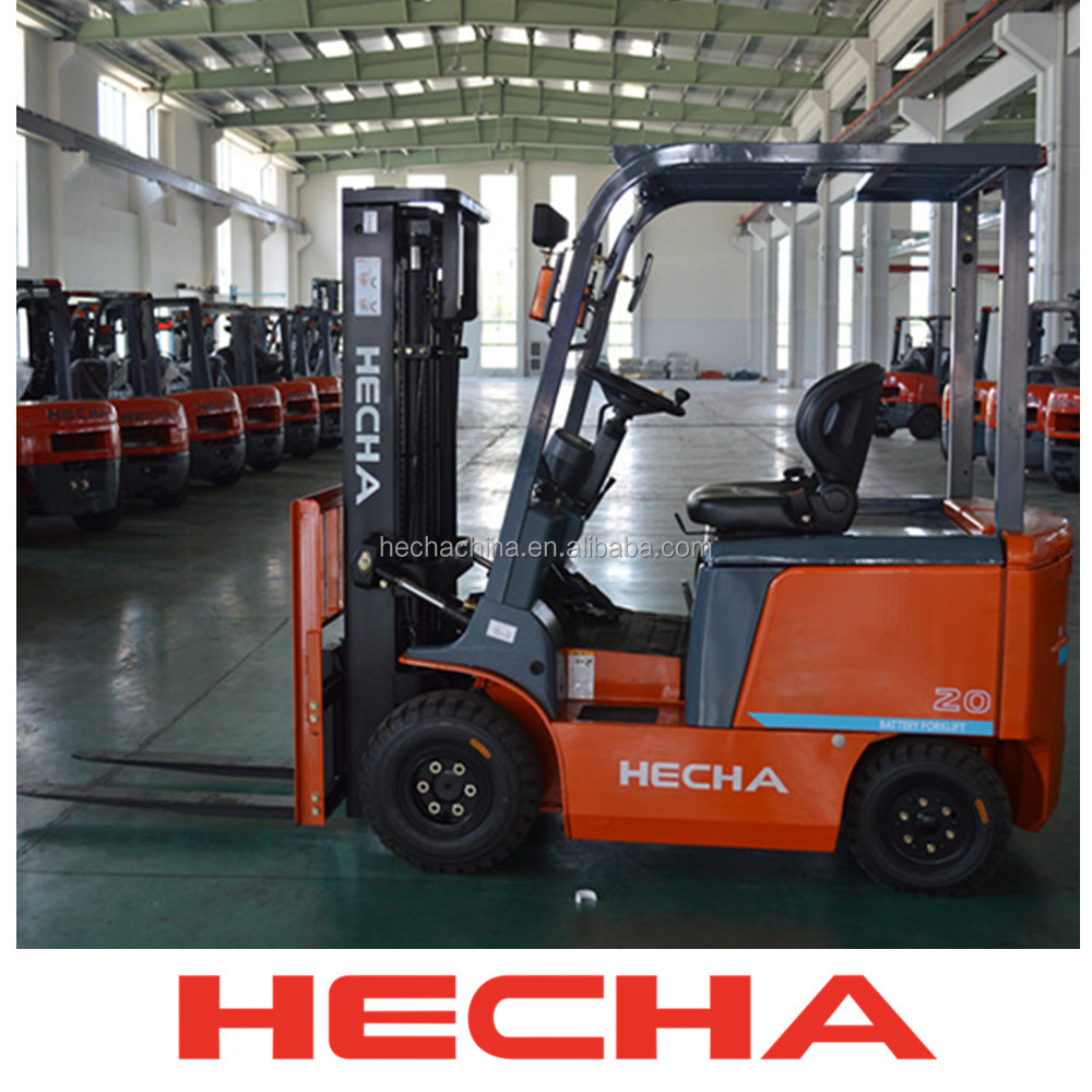 china new forklift promotion battery lifting equipment AC motor 2 ton HECHA electric forklift
