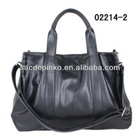 Leather fashion red color handbag new style fashion designer handbag