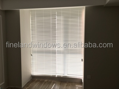 Basswood clear view plantation shutters