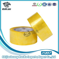High Quality Strong Glue Crystal Bopp Golden Tape /opp Packing Tape