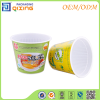 Disposable double wall packaging plastic bowl for heat food