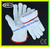 customized size with logo cow leather industrial safety gloves Cow grain leather driver gloves