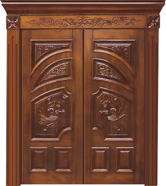 High Quality Luxurious Hand Carved solid teak wood main door designs