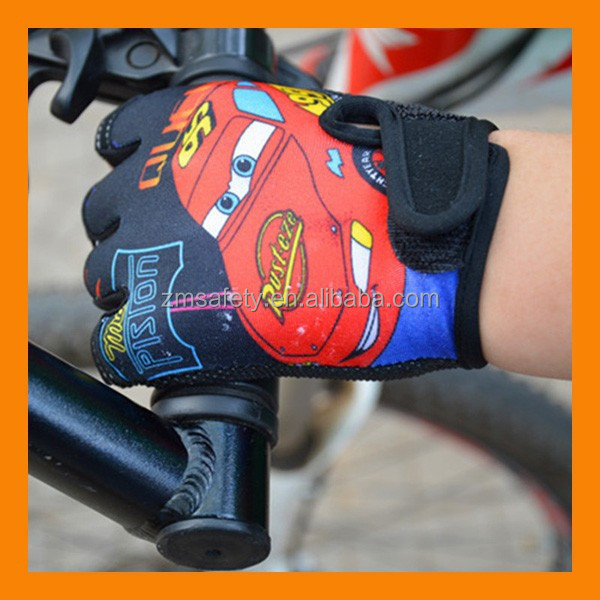 Fingerless Protective Childrens Cycling Gloves