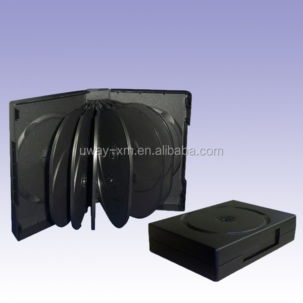 45mm black multi DVD Case/dvd box for 14 discs