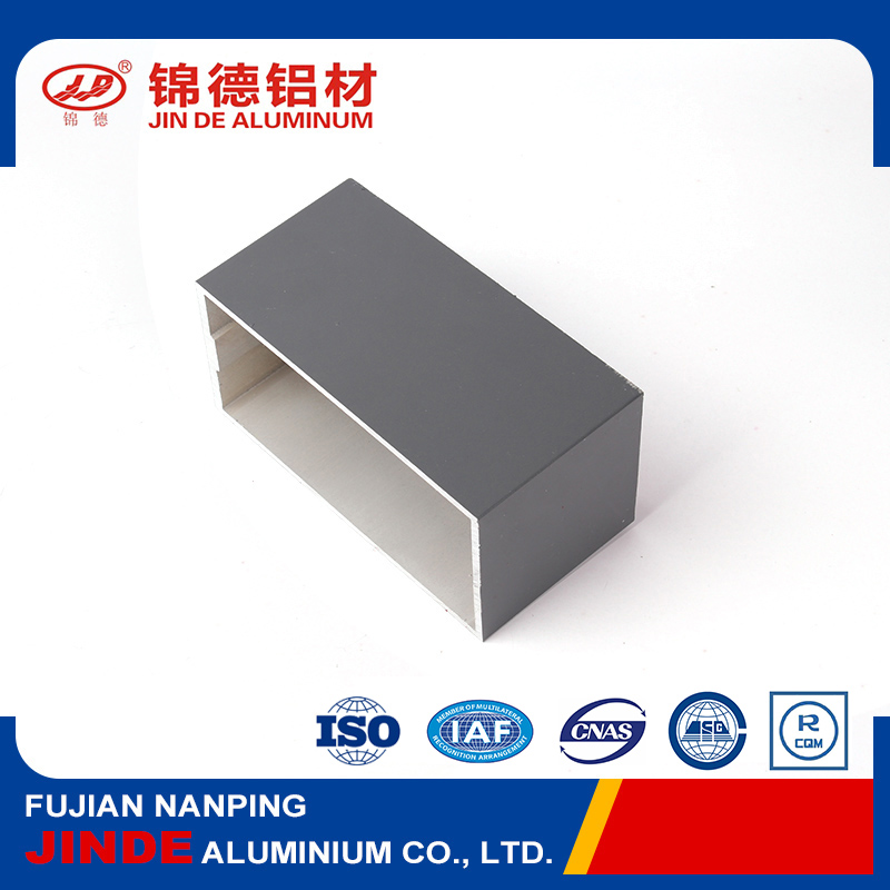 High quality square aluminium tube for construction