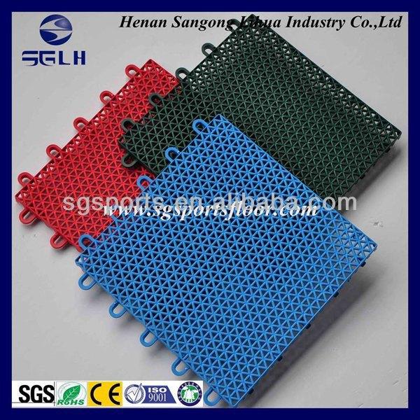 Factory Direct Professional multi-purpose PP modular suspended interlocking plastic gym floor/surface/covering manufacturer
