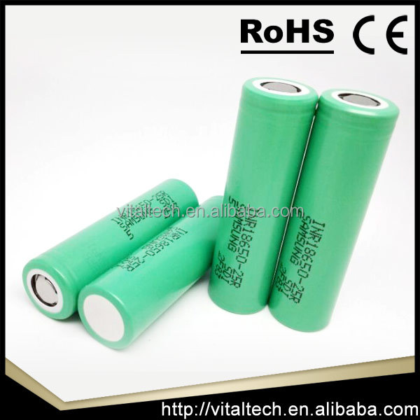 Top selling samsung lithium ion battery cell 18650 26650, samsung 18650 inr18650 25r 35amp top battery