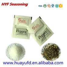 salt and pepper condiment sachets with OEM service/Food Condiments In Sachets