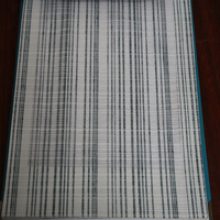 Wholesale fire retardant yarn jacquard stripe sheer curtain for Dubai-curtain-fabric
