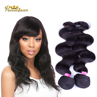 Collecting From Indian Temple Human Hair Weft Full End Wholeale 100% Real Raw Indian Virgin Hair