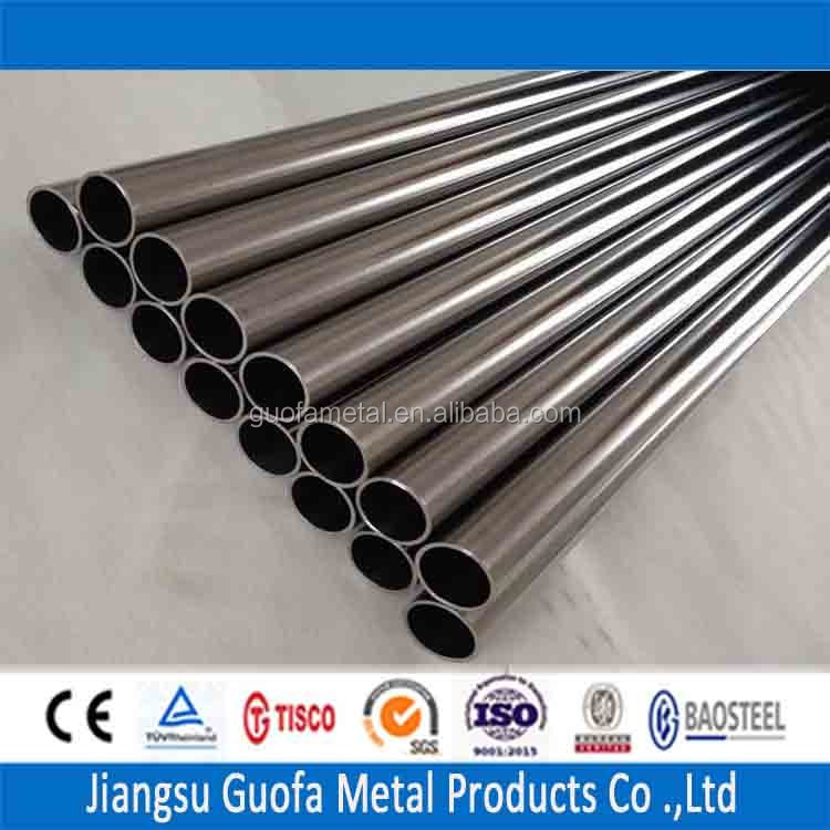 Round Shape 320Grit 1.7mm 409 SS Stainless Steel Tubing