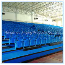 2016 new indoor telescopic bleacher armrest basketball chair/grandstand seating