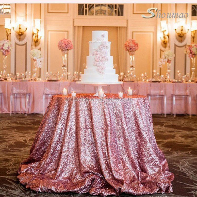 Beautiful wedding sequin 120 round tablecloth