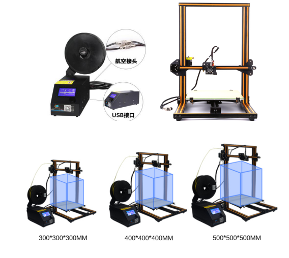 CR-10Large size 500*500*500mm 3D Printer DIY Kits Digital Printer 3d machine accept more customise size