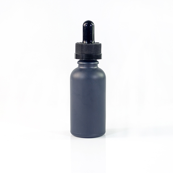e liquid e juice 5ml 10ml 15ml 20ml 30ml 50ml 100ml matte frosted black glass dropper bottle wholesale with childproof cap