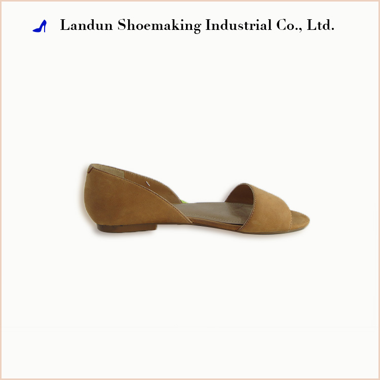Ladies elegant women soles flat leather shoes