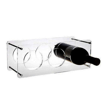 New design factory price wholesale clear acrylic wine rack display stand