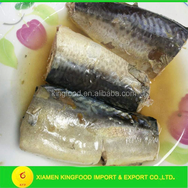 Canned mackerel in brine for South Amercia