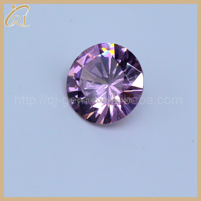 Hot selling 1.75mm gemstone pink color AAA round cubic zirconia gemstone