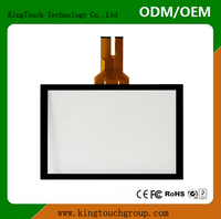 "Glass+Glass 5:4 19"" projected capacitive touch screen overlay kit,10 touch points 19"" Capacitive touch Panel,USB/I2C"