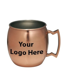 Moscow Mule 550ml copper drinking mugs stainless steel moscow mule beer cup