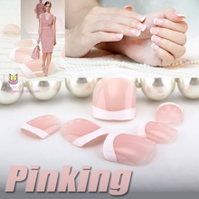 Hot sale pink natural impress french nails