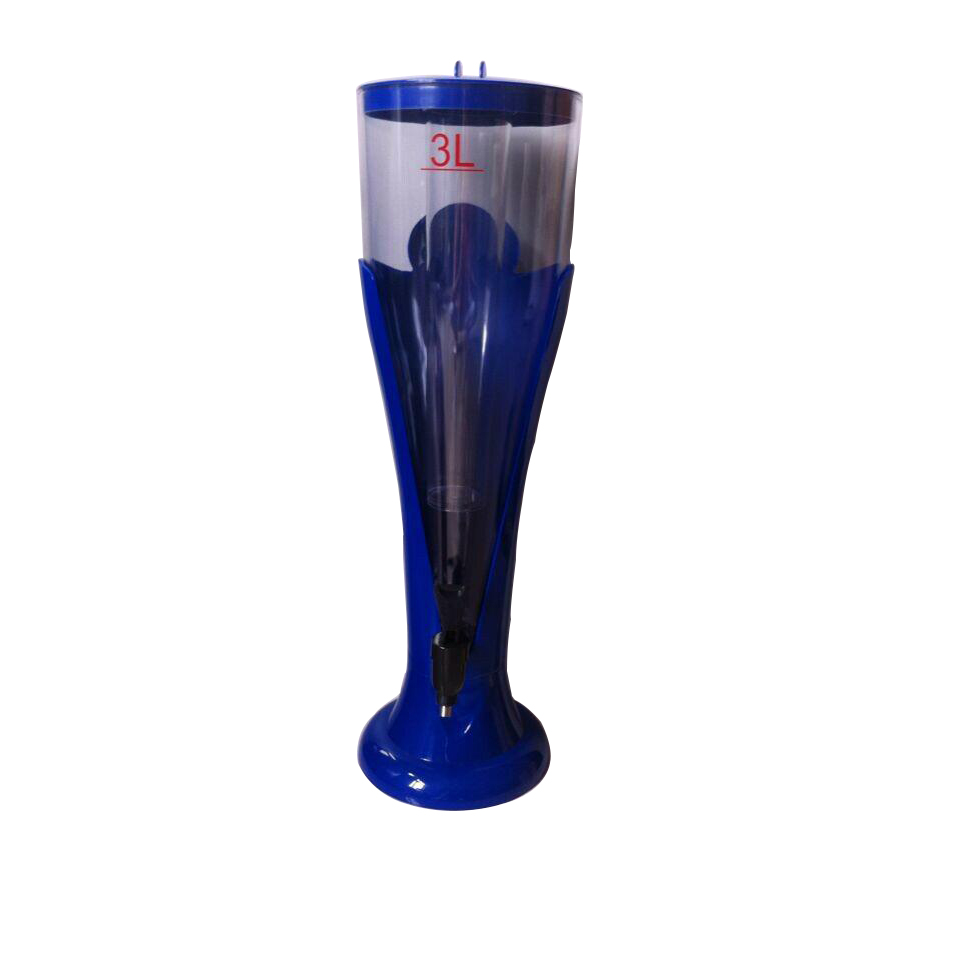 Draft Juice or beer Tower 1.5L 3L Drink Dispenser with Tap