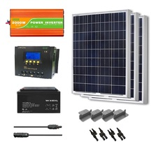 home solar pv system 2kw hybrid with panel controller battery inverter