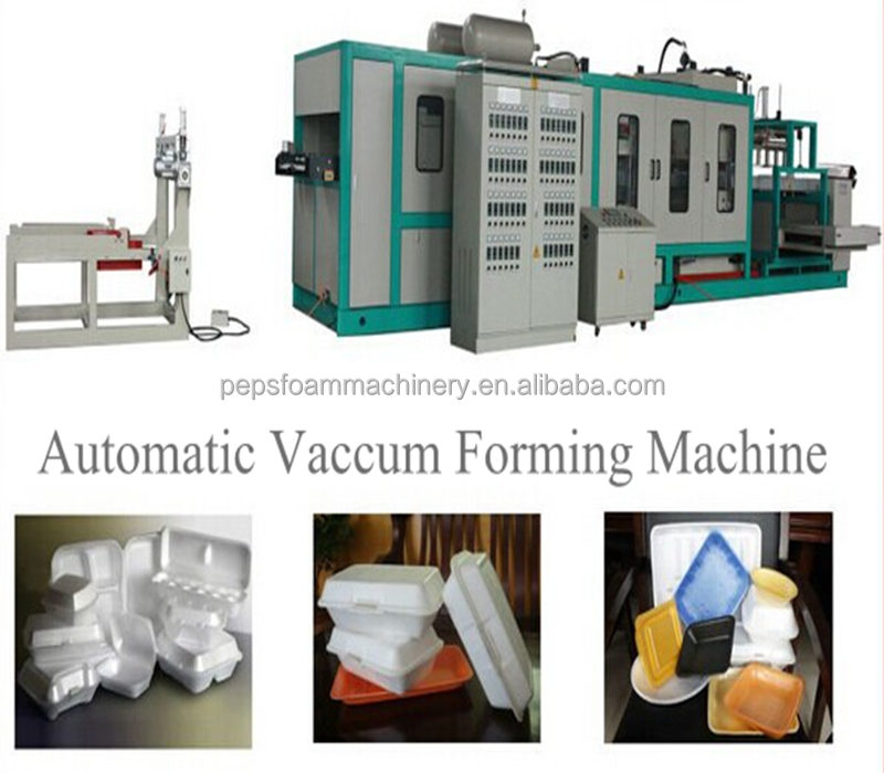 Automatic vaccum forming machine/food container making machine