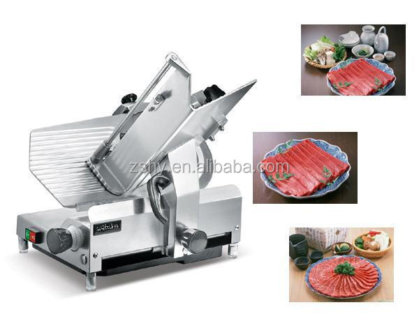 CE Industrial Frozen meat slicer with stainless steel blade
