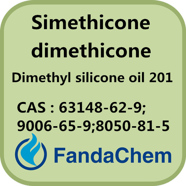 CAS NO.: 63148-62-9;9006-65-9;8050-81-5 Simethicone / dimethicone / Dimethyl silicone oil 201