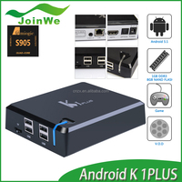 Joinwe new 2016 andriod 5.1 K1 Plus set top box 1G 8G Amlogic S905 google tv box android 5.1 lollipop