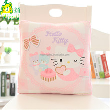 Comfortable Cute Cartoon Pink Cat Plush Air conditioning Quilt Plush Pillow wholesale