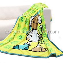dog print polar fleece blanket with pocket