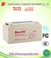 UL&CE 12V 60AH Aussda Rechargeable storage battery for UPS sealed lead acid battery