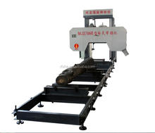 MJ3706 Round log cutting portable horizontal wood band saw mill with cheap price