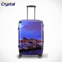 Good Quality Printing Waterproof 4 Double Universal Wheels Case/Luggage Sets/Suitcase/Backpack/Bags/ABS/PC Pretty Trolley