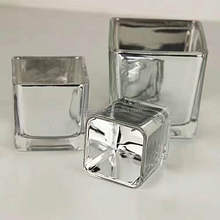 Hot-selling Nickel brushed square cheap glassware